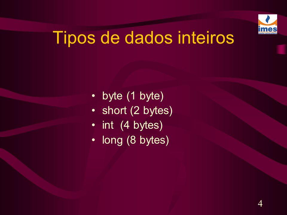 Tipos de dados inteiros