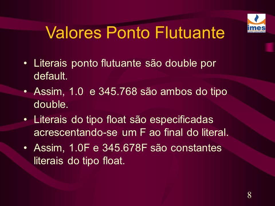 Valores Ponto Flutuante