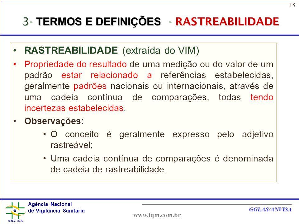 3- TERMOS E DEFINIÇÕES - RASTREABILIDADE