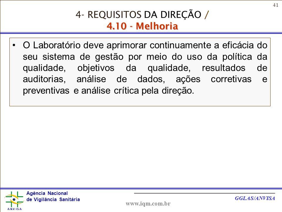 4- REQUISITOS DA DIREÇÃO / 4.10 - Melhoria