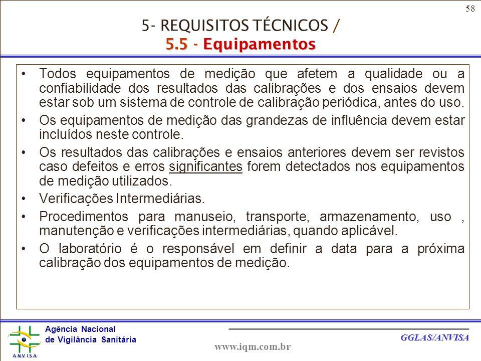 5- REQUISITOS TÉCNICOS / 5.5 - Equipamentos