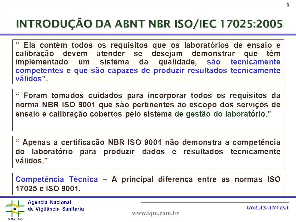 INTRODUÇÃO DA ABNT NBR ISO/IEC 17025:2005