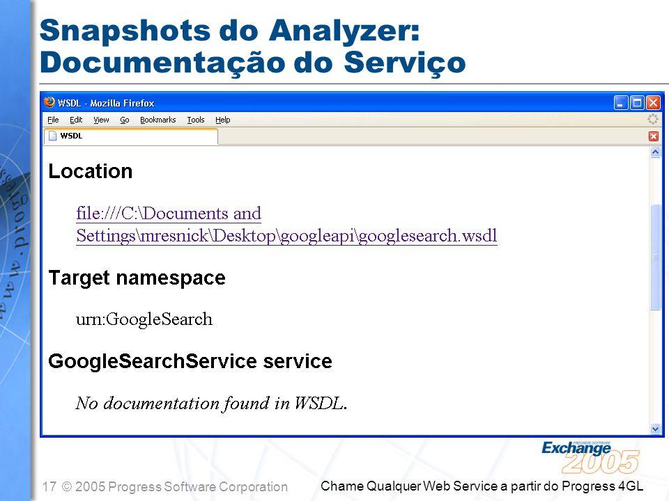Snapshots do Analyzer: Documentação do Serviço