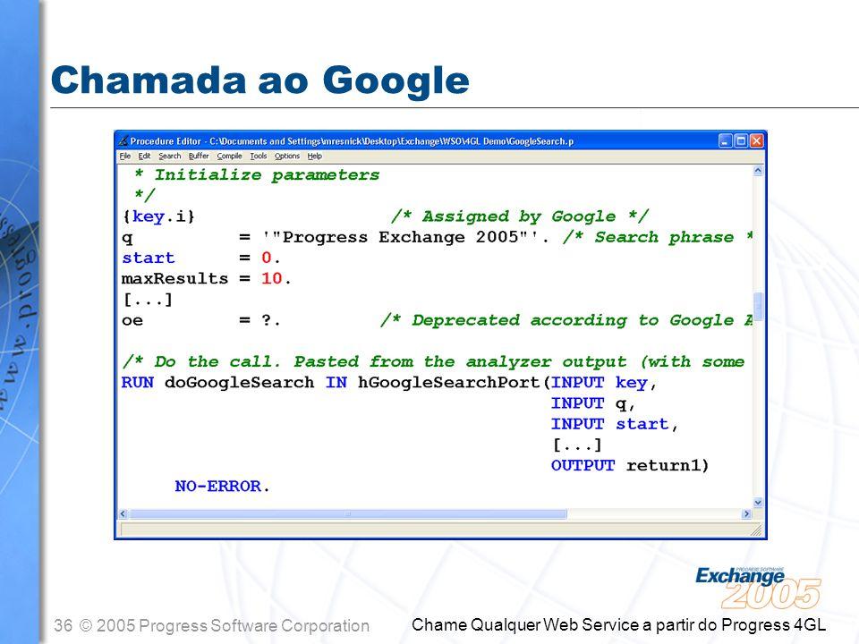 Chamada ao Google Chame Qualquer Web Service a partir do Progress 4GL