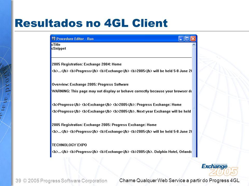 Resultados no 4GL Client