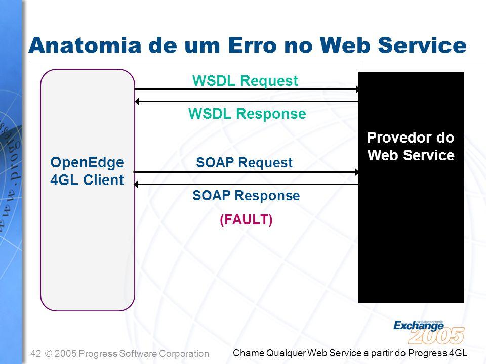 Anatomia de um Erro no Web Service