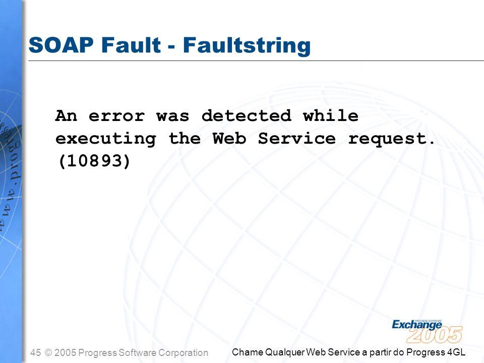 SOAP Fault - Faultstring