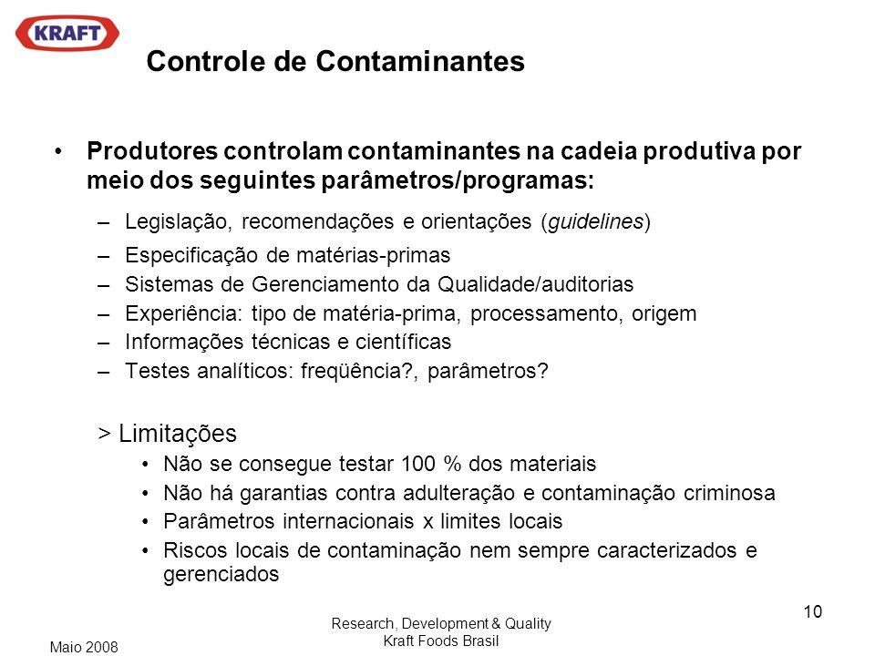 Controle de Contaminantes