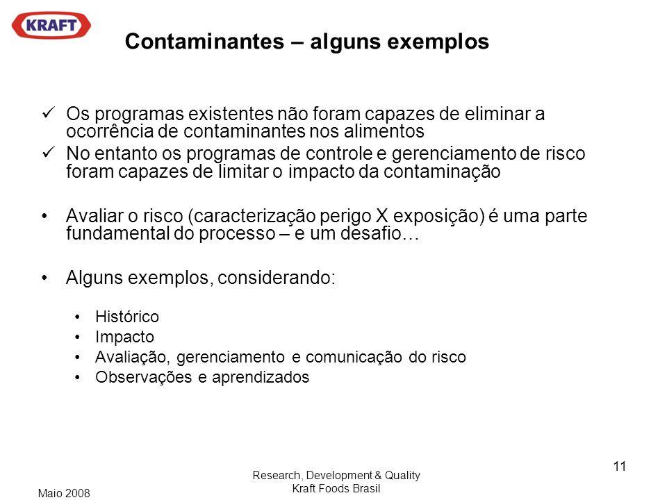 Contaminantes – alguns exemplos