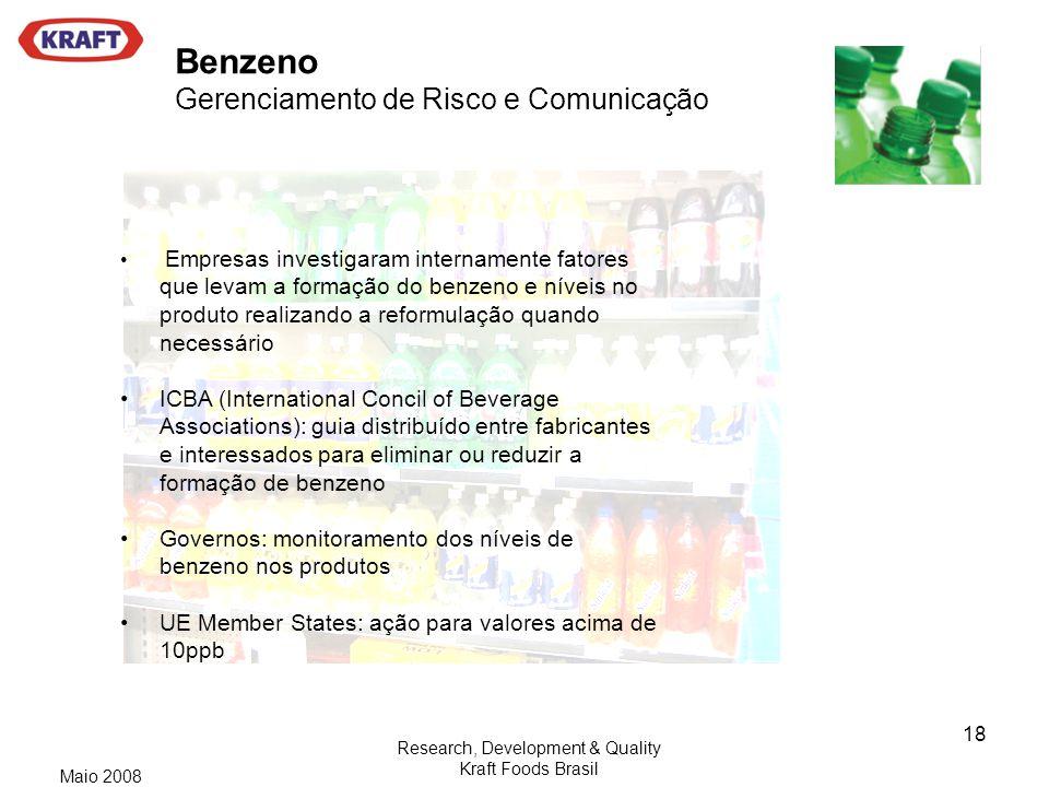 Benzeno Gerenciamento de Risco e Comunicação