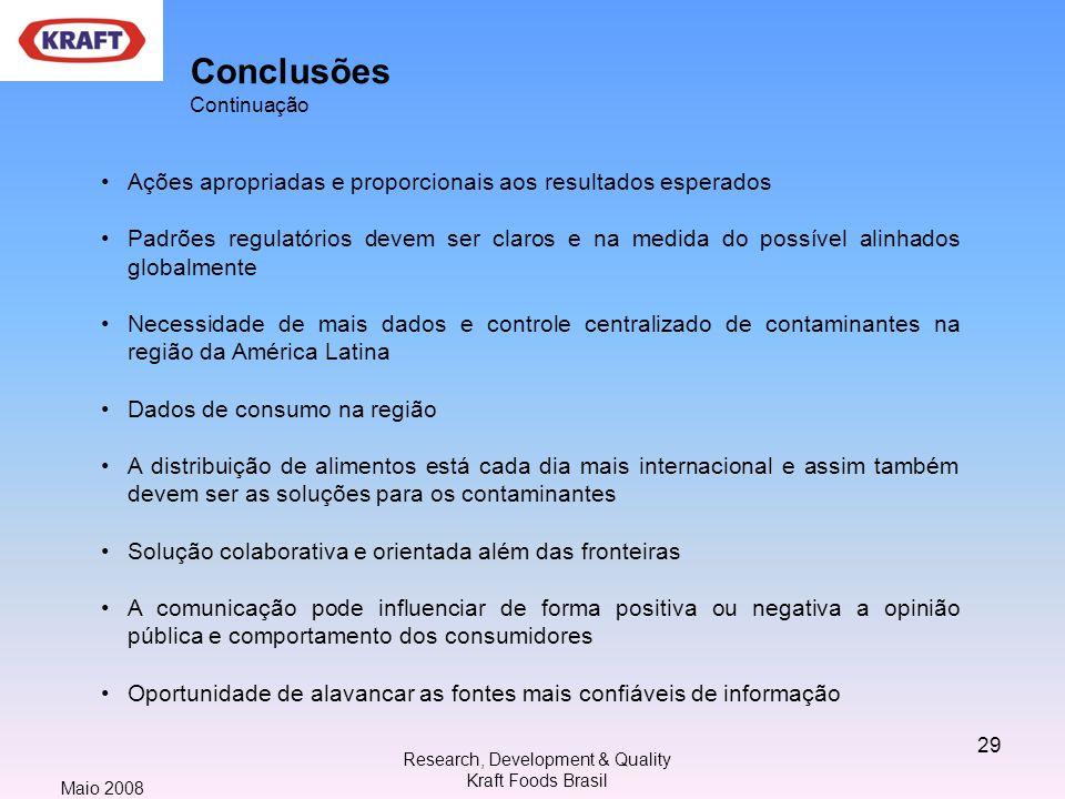 Conclusões Continuação