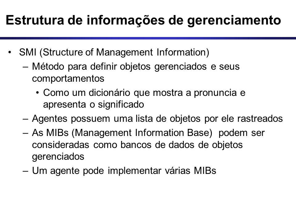 Estrutura de informações de gerenciamento