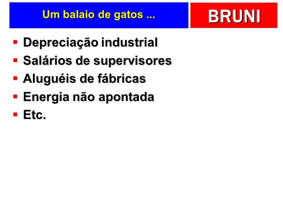 Depreciação industrial Salários de supervisores Aluguéis de fábricas