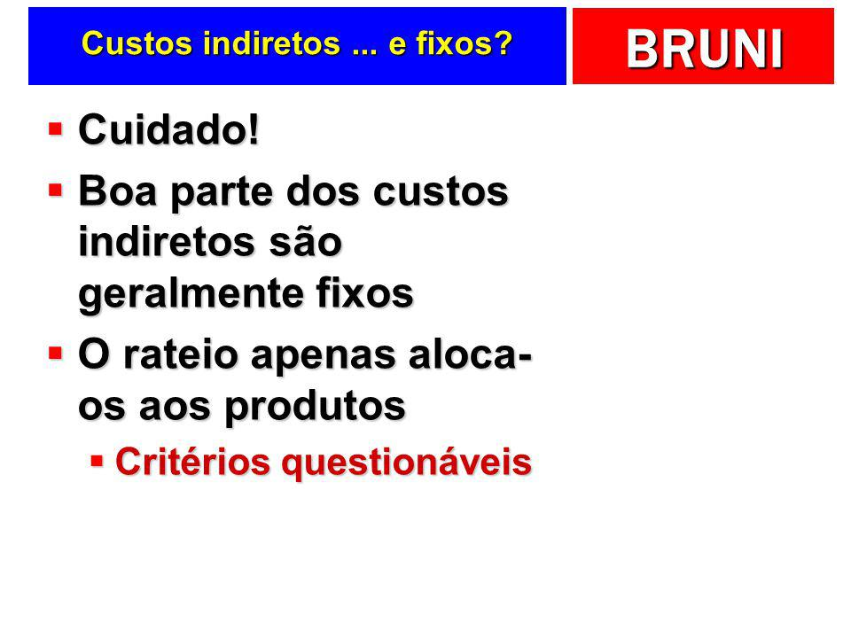 Custos indiretos ... e fixos