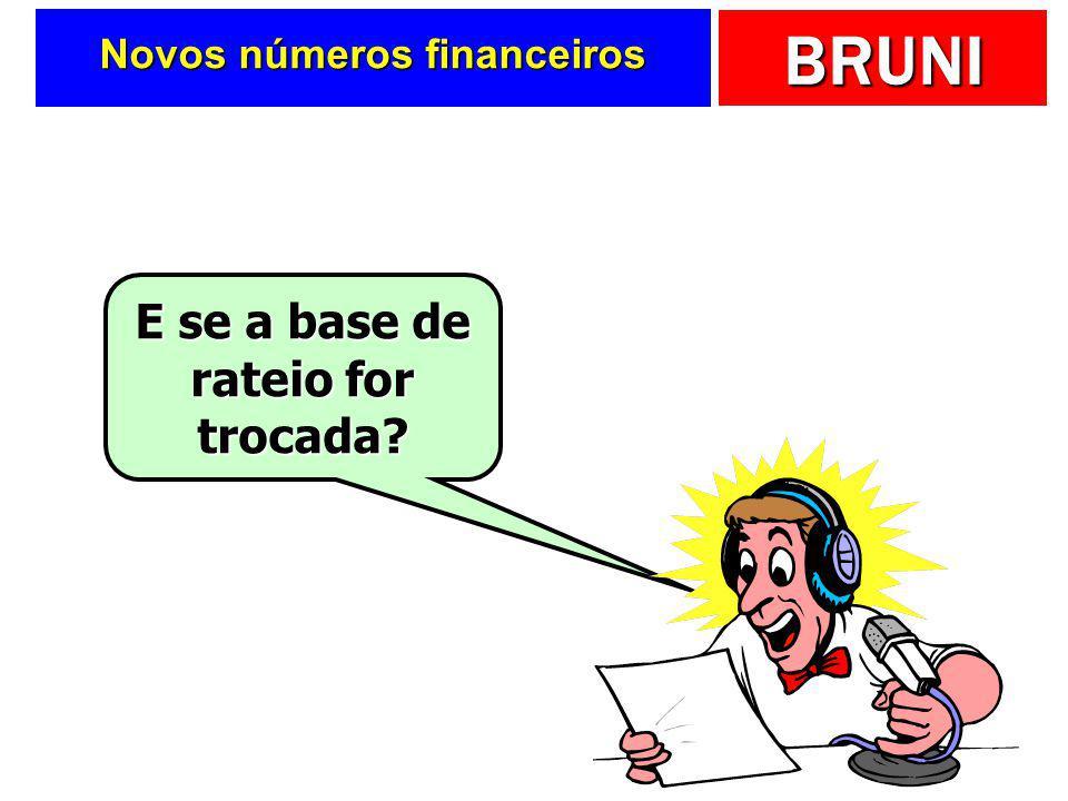 Novos números financeiros