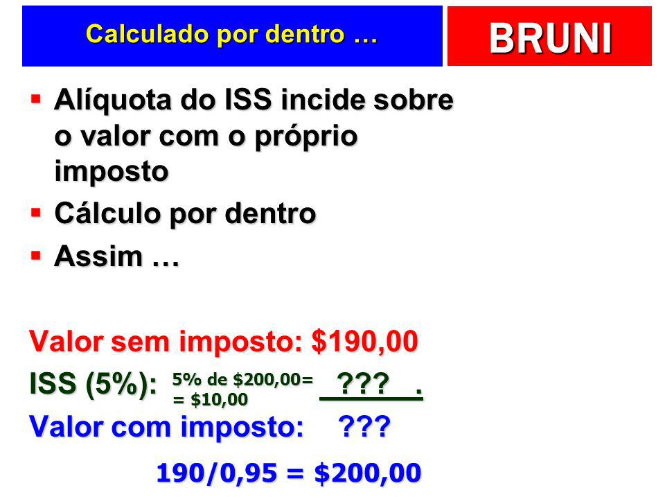Alíquota do ISS incide sobre o valor com o próprio imposto