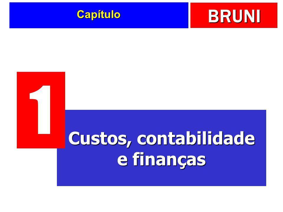 Capítulo 1 Custos, contabilidade e finanças