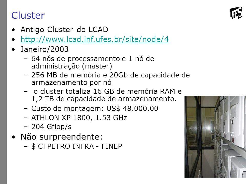 Cluster Não surpreendente: Antigo Cluster do LCAD