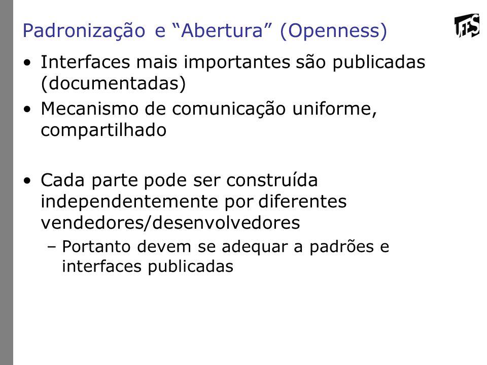 Padronização e Abertura (Openness)