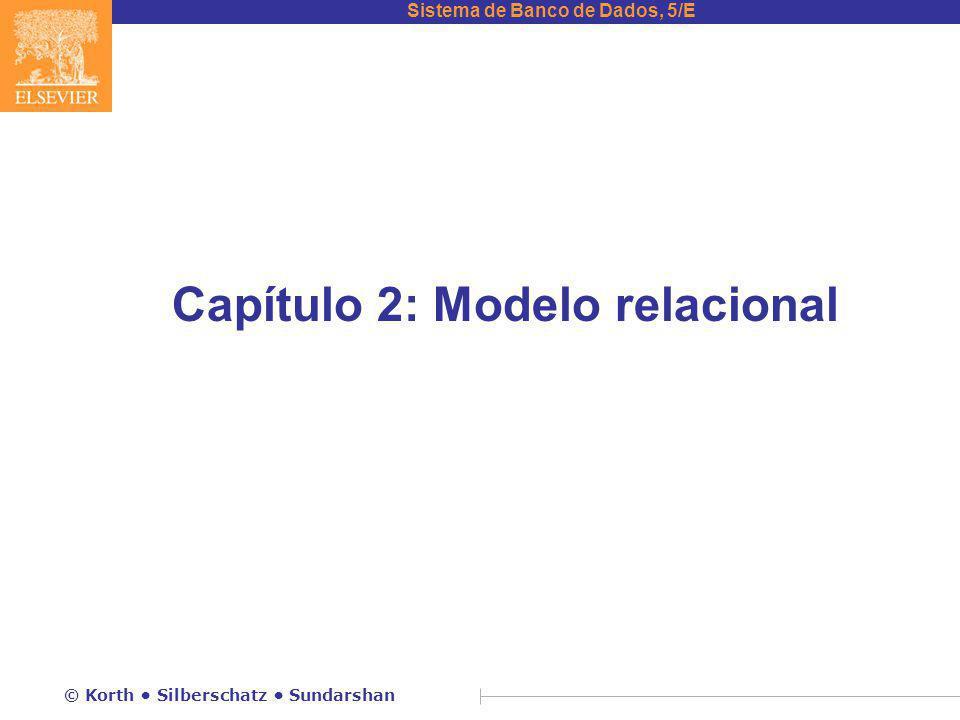 Capítulo 2: Modelo relacional
