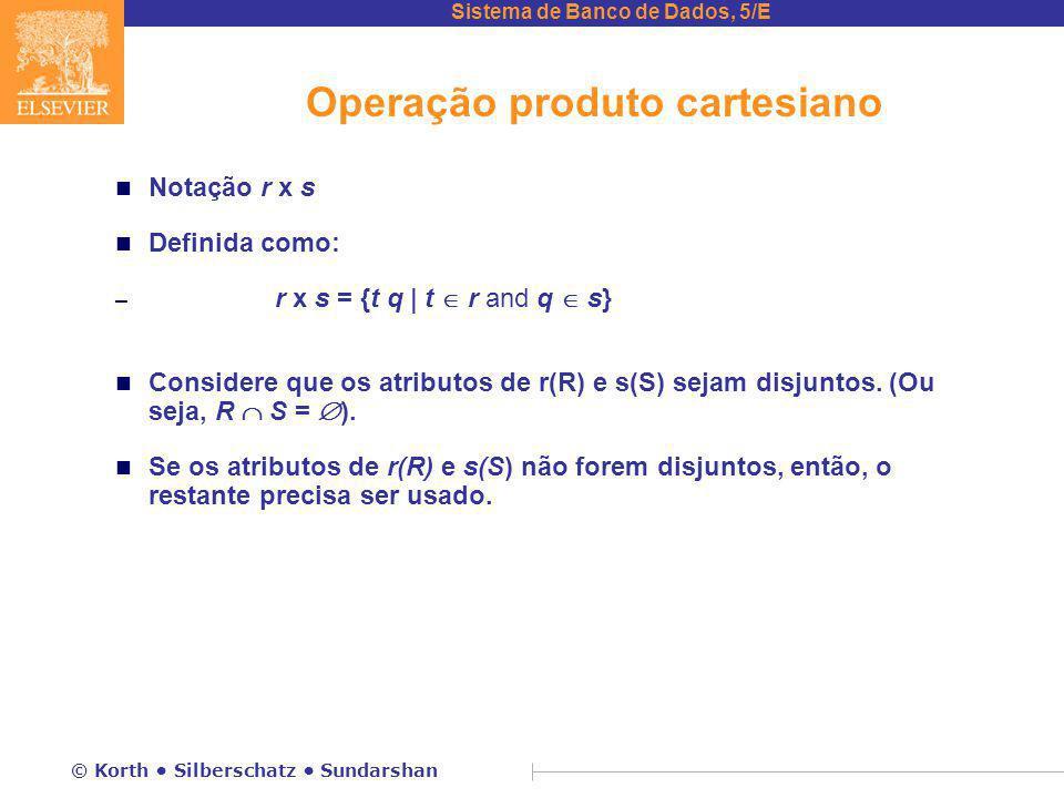 Operação produto cartesiano