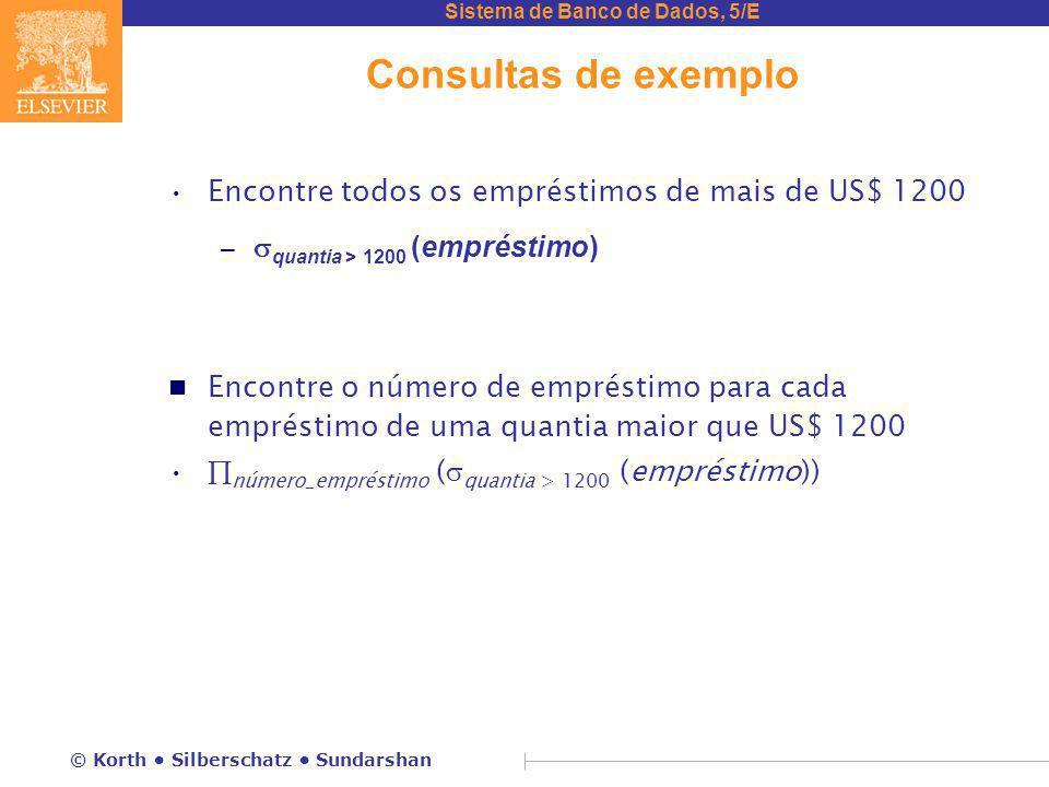 Consultas de exemplo Encontre todos os empréstimos de mais de US$ 1200