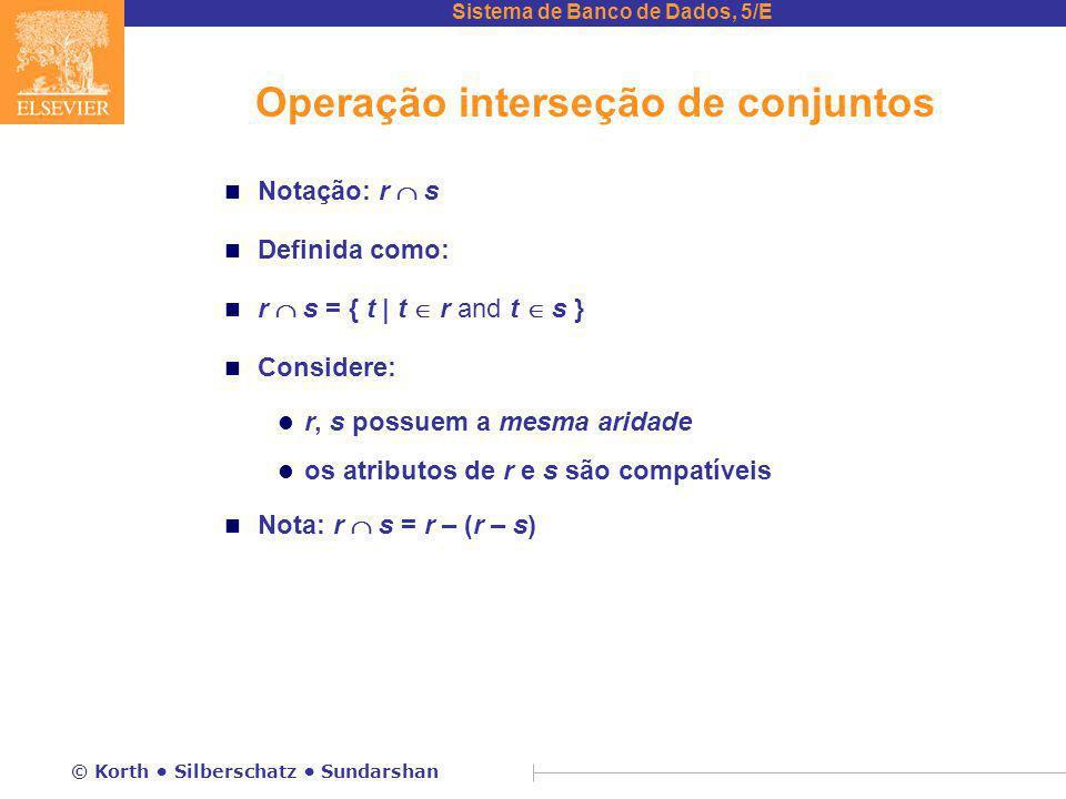 Operação interseção de conjuntos