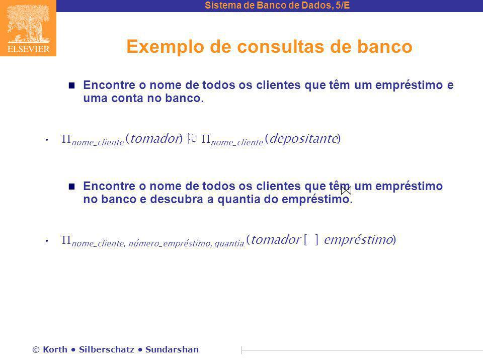 Exemplo de consultas de banco