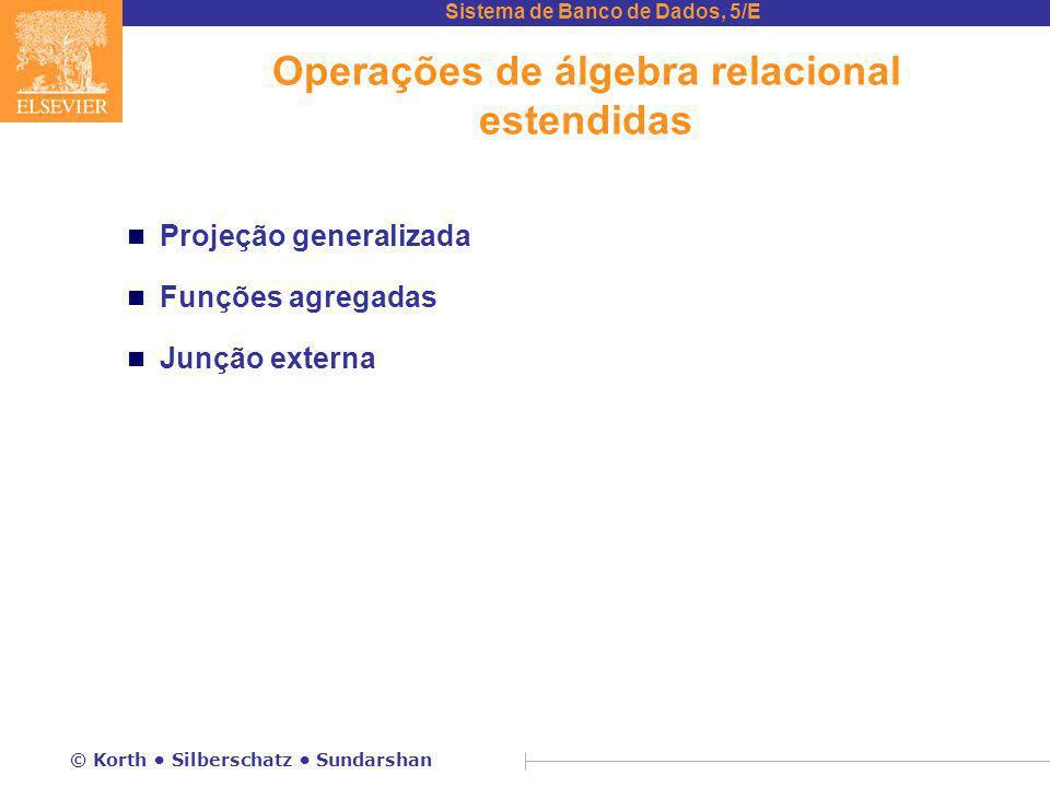 Operações de álgebra relacional estendidas