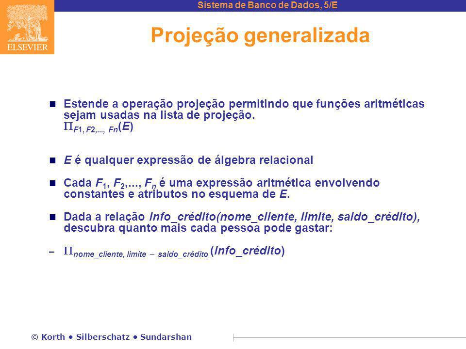 Projeção generalizada