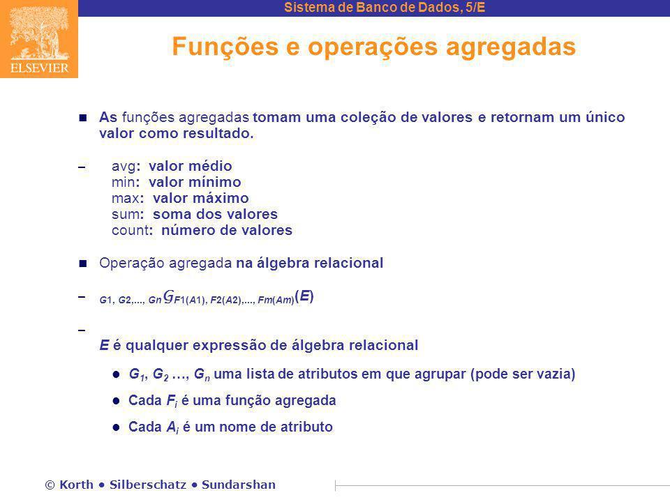 Funções e operações agregadas