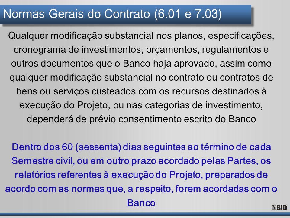 Normas Gerais do Contrato (6.01 e 7.03)
