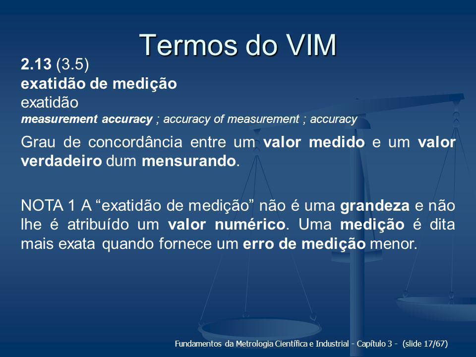 Termos do VIM 2.13 (3.5) exatidão de medição exatidão