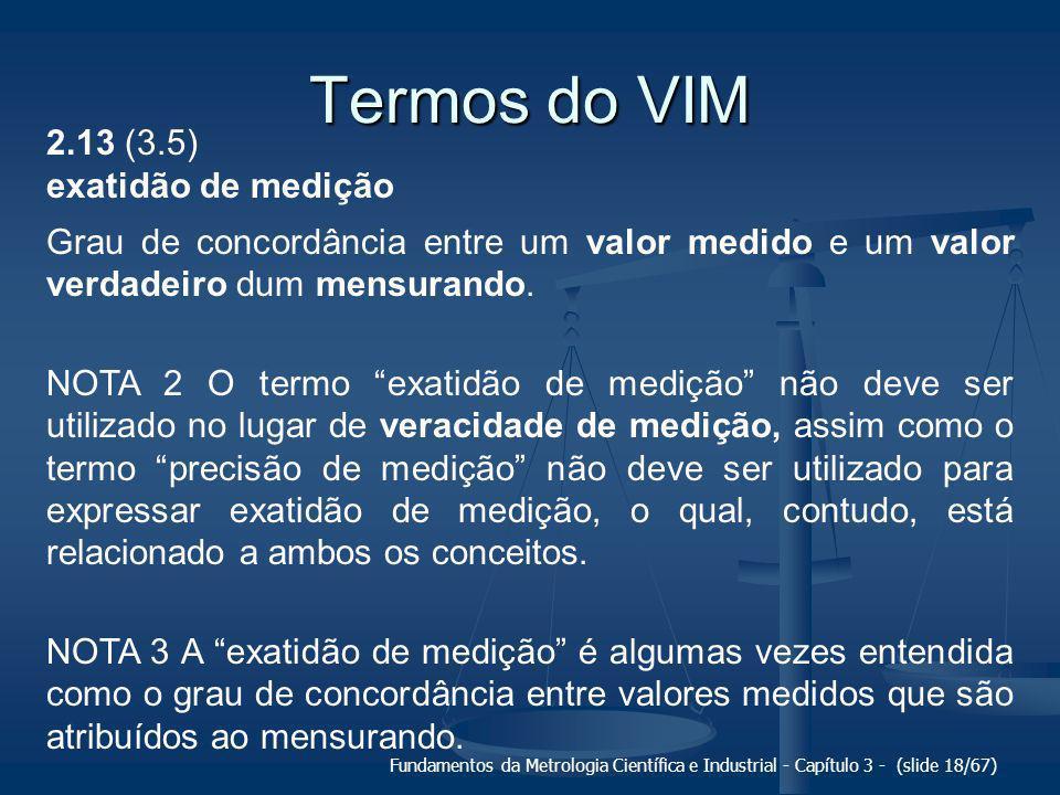 Termos do VIM 2.13 (3.5) exatidão de medição