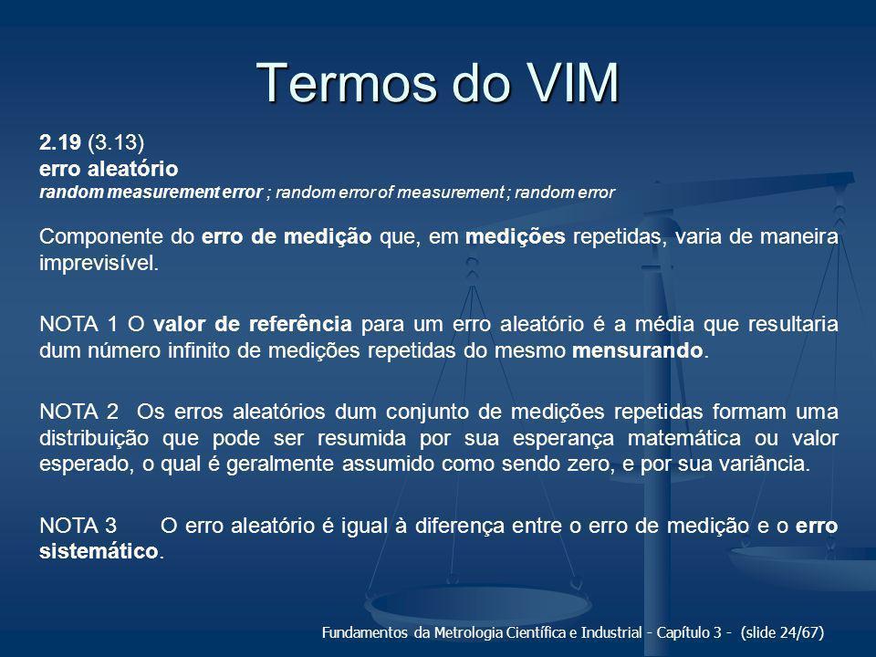 Termos do VIM 2.19 (3.13) erro aleatório