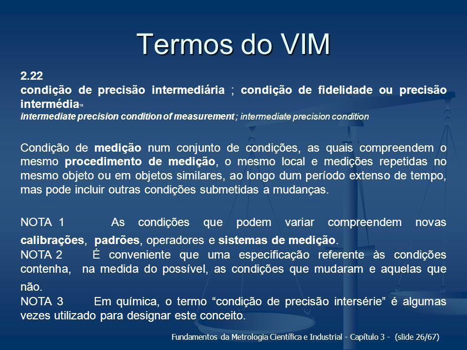 Termos do VIM 2.22. condição de precisão intermediária ; condição de fidelidade ou precisão intermédia18.