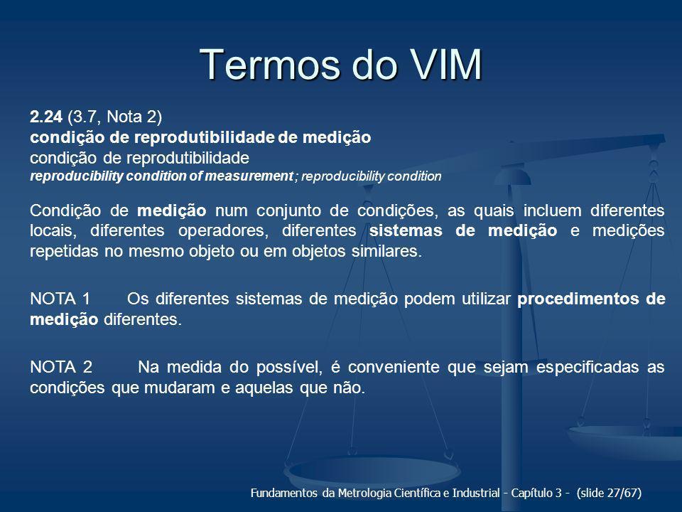 Termos do VIM 2.24 (3.7, Nota 2) condição de reprodutibilidade de medição. condição de reprodutibilidade.