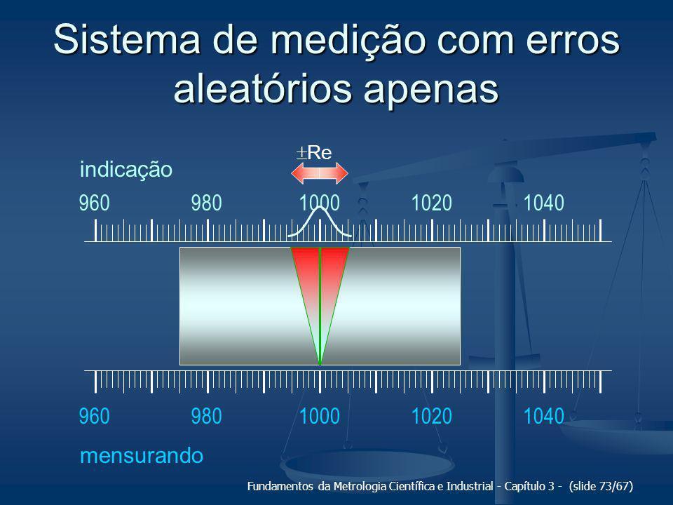 Sistema de medição com erros aleatórios apenas