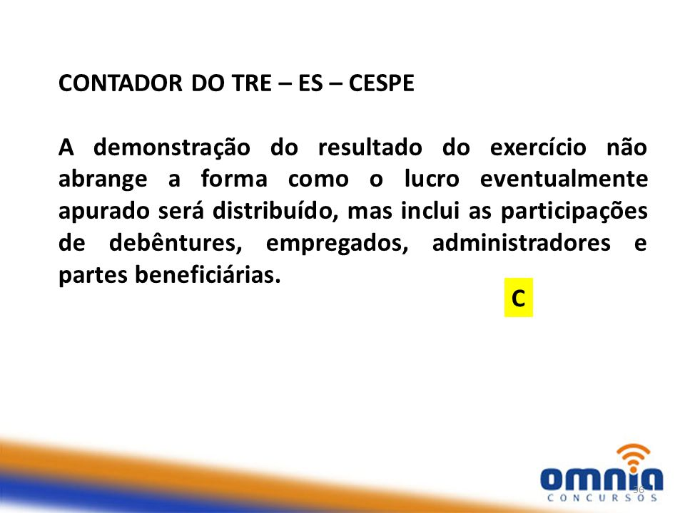 CONTADOR DO TRE – ES – CESPE