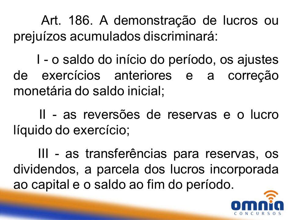 II - as reversões de reservas e o lucro líquido do exercício;