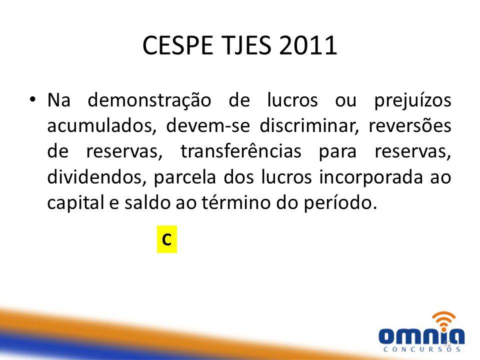 CESPE TJES 2011