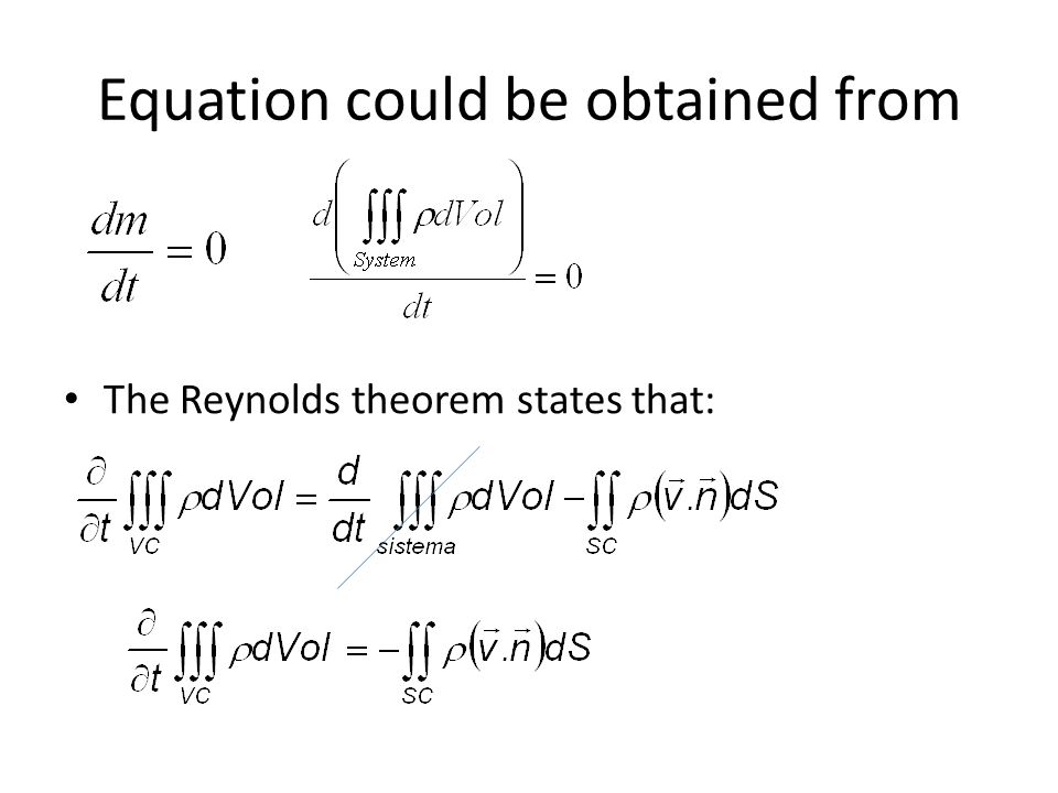 Equation could be obtained from