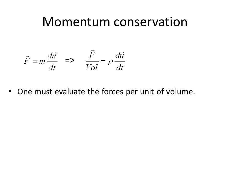 Momentum conservation