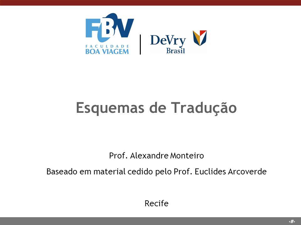 Esquemas de Tradução Prof. Alexandre Monteiro