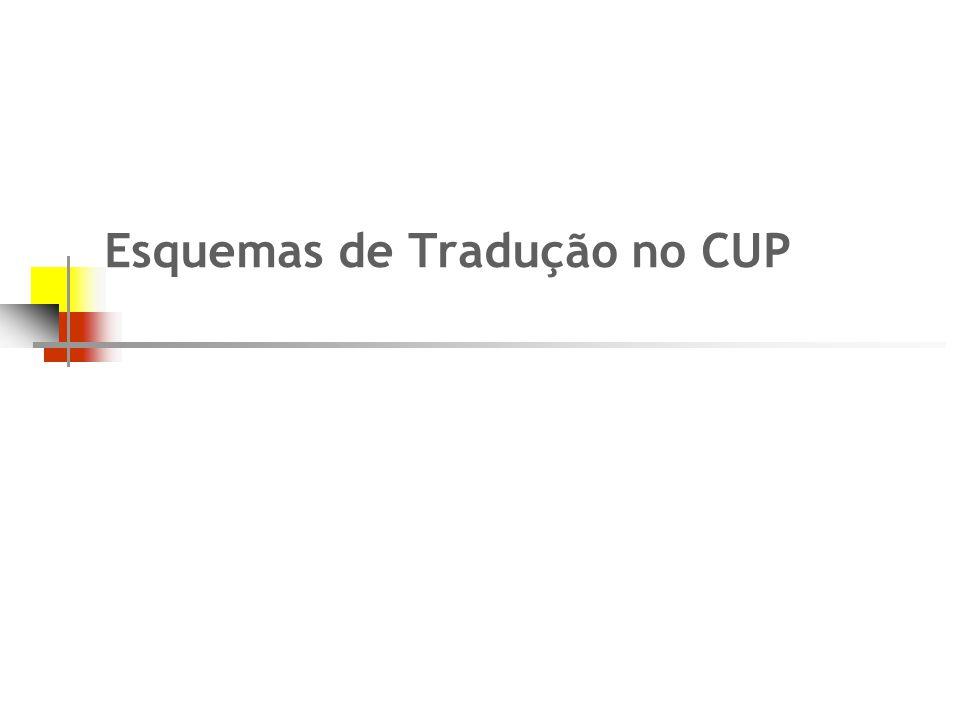 Esquemas de Tradução no CUP