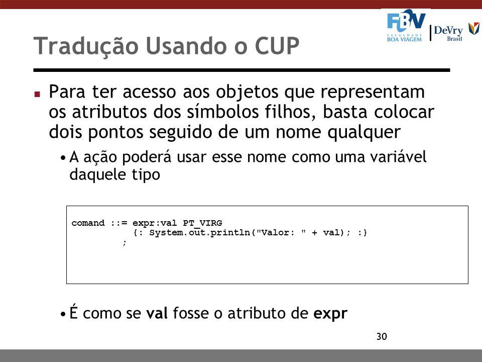Tradução Usando o CUP
