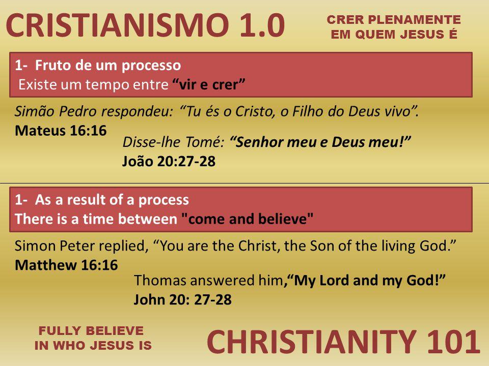CRISTIANISMO 1.0 CHRISTIANITY 101 1- Fruto de um processo