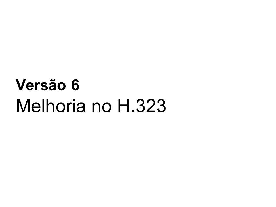Versão 6 Melhoria no H.323