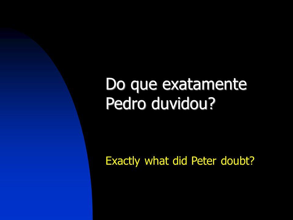 Do que exatamente Pedro duvidou