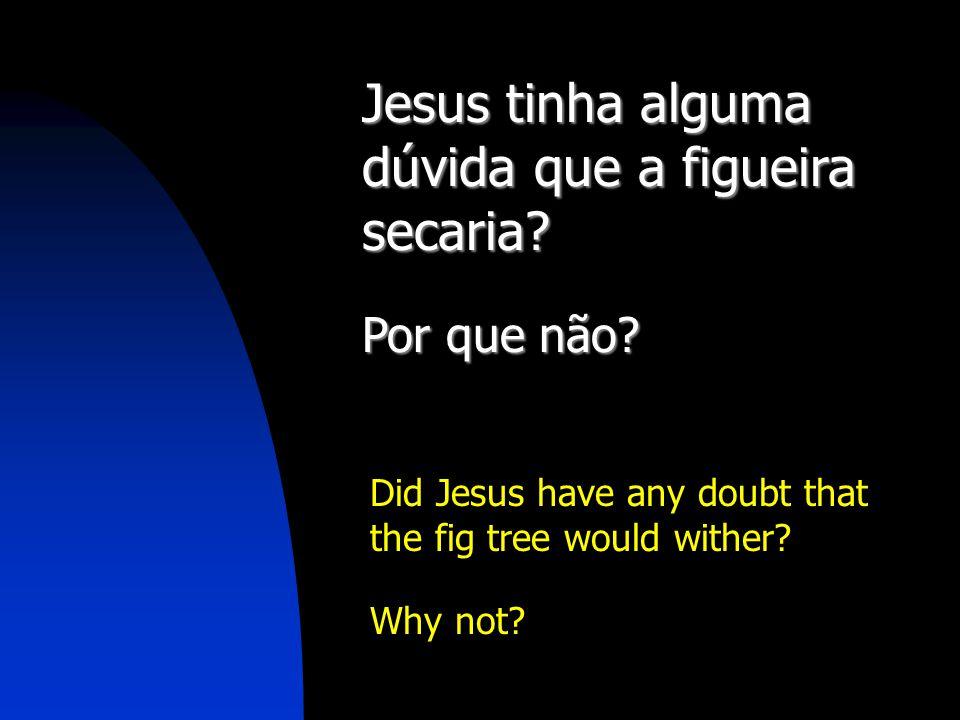 Jesus tinha alguma dúvida que a figueira secaria